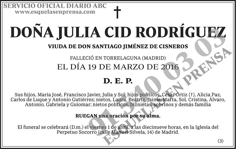 Julia Cid Rodríguez